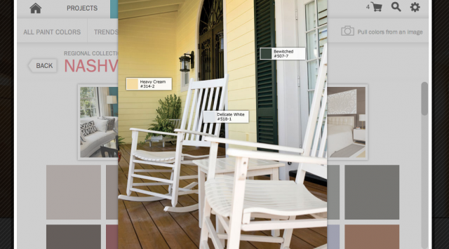 nashville porch color palette