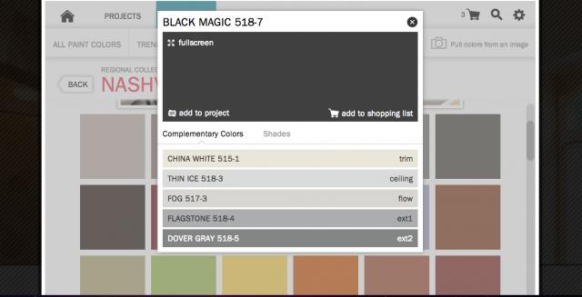 nashville black color palette